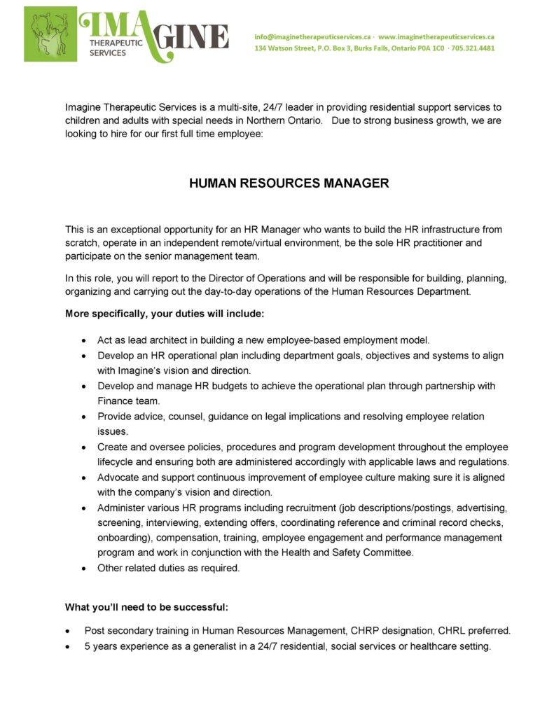 Job Bulletin-HR Manager Position - pg1